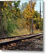 Nickel Plate Train Tracks Metal Print