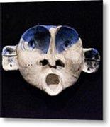 Nico Cobalt Mask Metal Print by Mark M  Mellon