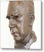 Niels Bohr Sculpture Metal Print