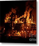 Night And Factory Metal Print
