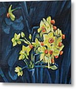 Night And Flowers Metal Print