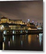Night At Fairmount Waterworks And The Philadelphia Art Museum Metal Print