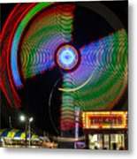 Night At The Fair Metal Print