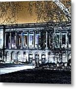 Night At The Library IIi Metal Print