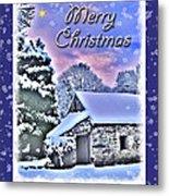 Christmas Card 28 Metal Print