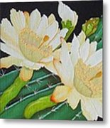 Night Blooming Cacti Metal Print