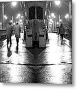 Night Bridge Metal Print