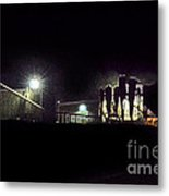 Night Cotton Gin Metal Print