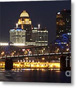 Night Descends Over Louisville City Metal Print
