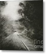 Night Driving On The Bells Line Of Road Metal Print