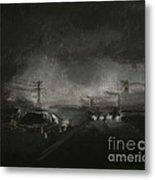 Night Driving - Stanhope Parkway Metal Print