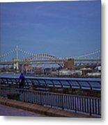 Night Falling Over The East River - Manhattan Metal Print