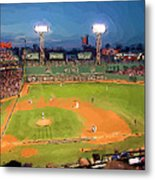 Night Fenway Pop Metal Print