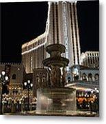 Night Glow At The Venetian Las Vegas Metal Print