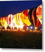 Night Glow Hot Air Balloons Metal Print