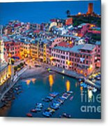 Night In Vernazza Metal Print by Inge Johnsson