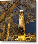 Night Lighthouse Metal Print