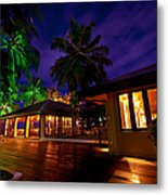 Night Lights At The Resort Metal Print