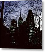 Night Lights Empire State Two Trees Metal Print
