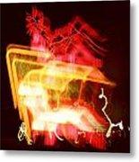 Night Lights Holiday Inn Sign 2 Metal Print