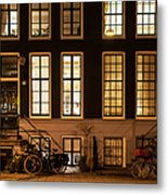 Night Lights In Amsterdam. Holland Metal Print