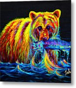 Night Of The Grizzly Metal Print