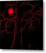 Night Of The Red Moon Metal Print