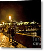 Night On The Charles Bridge Metal Print