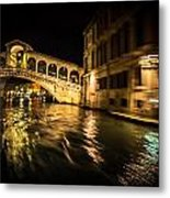 Night On The Grand Canal Metal Print