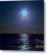 Night On The Sea Metal Print