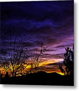 Night Paints The Sky Metal Print