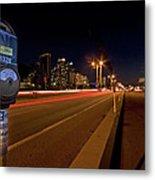 Night Parking Meter Metal Print