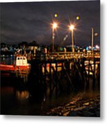 Night Pier Metal Print