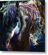Night Stallion Metal Print