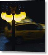 Night Taxi Metal Print