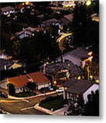 Night Time In The Valley Metal Print