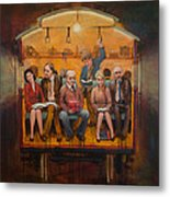 Night Train Metal Print by Jennifer Croom