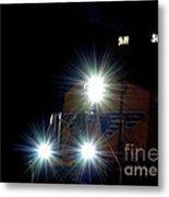 Night Train - Union Pacific Train Engine Metal Print