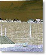 Night View Of Lafitte Bay Dauphin Island Alabama Metal Print
