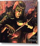 Nightclub Violinist - 1940s Metal Print