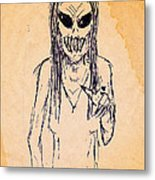 Nightmare Sketch Metal Print