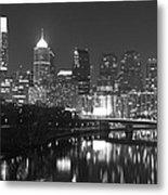 Nighttime In Philadelphia Metal Print