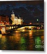 Nighttime Paris Metal Print