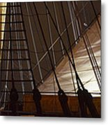 Nightview Sails And Rigging Metal Print