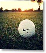 Nike Golf Ball Metal Print by Derek Goss