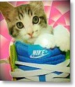 Nike Kitten Metal Print by Alexandria Johnson