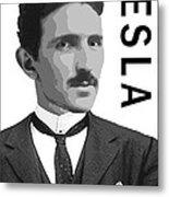 Nikola Tesla 2 Metal Print