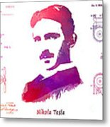 Nikola Tesla Patent Art Apparatus For Aerial Transportation  Metal Print