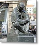 Nikola Tesla Sculpture In Zagreb Metal Print by Borislav Marinic