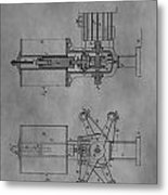 Nikola Tesla's Patent Metal Print